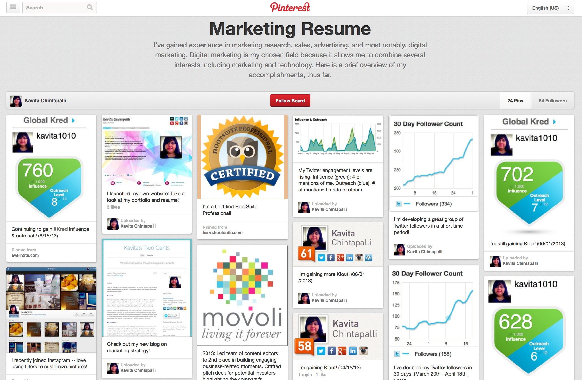 trending  living resumes via pinterest  u2013 boston university
